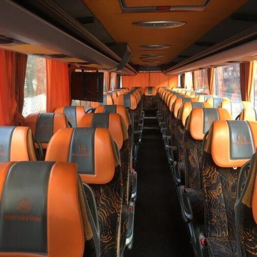 аренда автобуса Mercedes Tourismo 50 пассажирских мест фото салона 2