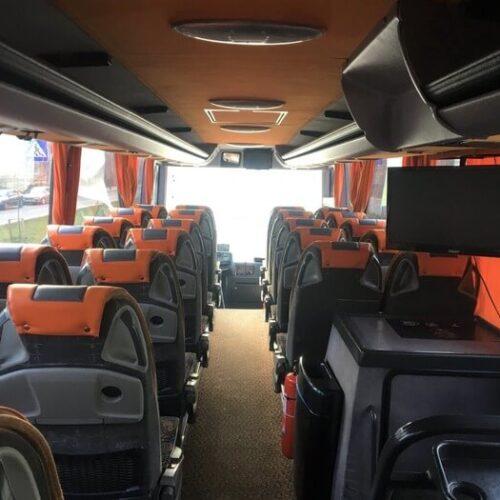 аренда автобуса Mercedes Tourismo 50 пассажирских мест фото салона