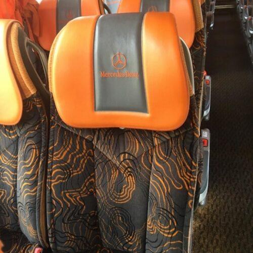 автобуса Mercedes Tourismo 50 пассажирских мест фото сиденья