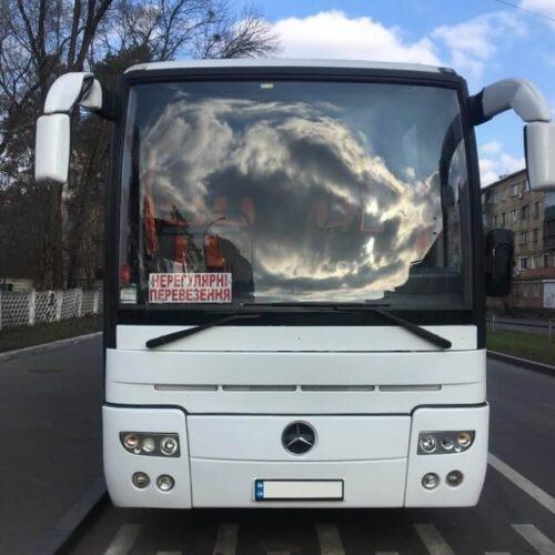 аренда автобуса Mercedes Tourismo 50 пассажирских мест фото с переди
