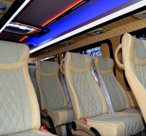 фото микроавтобус Мерседес Спринтер VIP 21 мест светлый кожаный салон фото 2