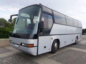 серый автобус неоплан 35 пассажирских мест аренда с водителем