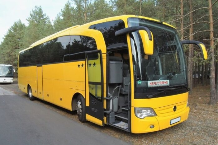 Mercedes Travego yellow