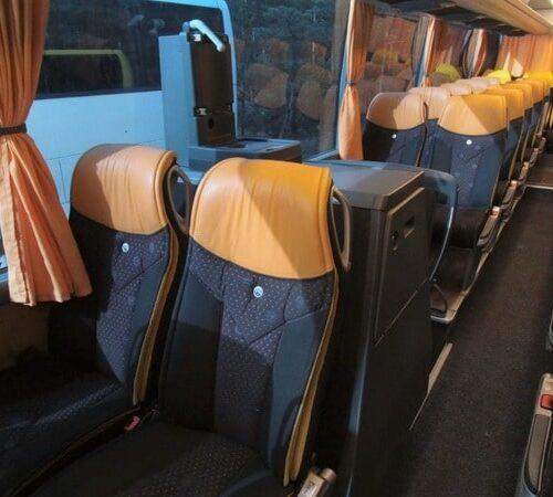 салон автобуса мерседес травего 50 мест желтый