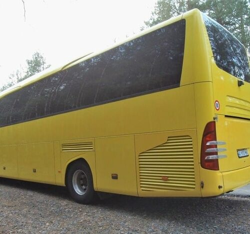 желтый автобус мерседес травего 50 мест