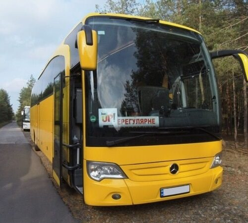 аренда мерседес травего туристический автобус желтого цвета