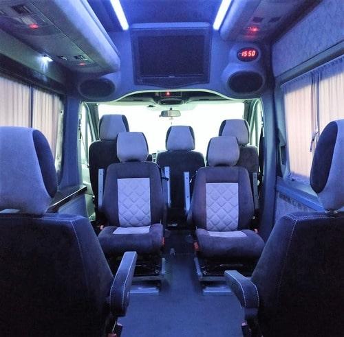 серебристый мерседес спринтер 12 мест салон микроавтобуса фото 2